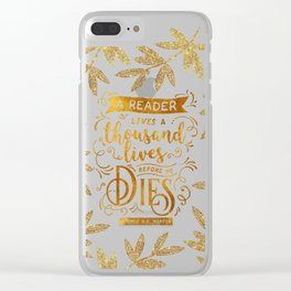 Thousand Lives - gold Clear iPhone Case