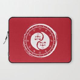 Libra Yin Yang Seventh Zodiac Sign Laptop Sleeve