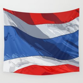 Thailand Fancy Flag Wall Tapestry