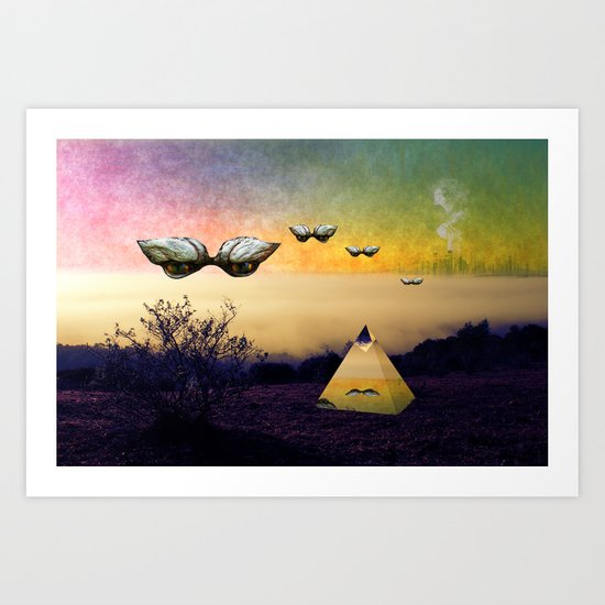 Search the boundaries to find the peace you seek Art Print