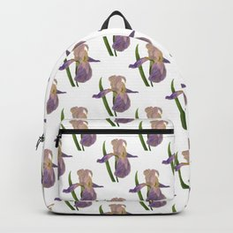 Purple Iris: Iris Germanica Backpack