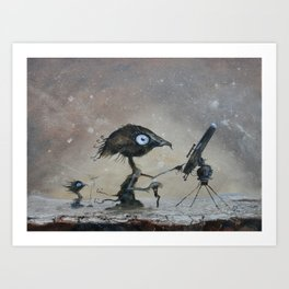 Sky watchers Art Print