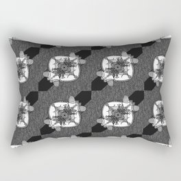 Denim Doodles & Bits Rectangular Pillow