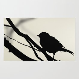 Silhouetted Bird Rug