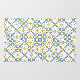 Colorful Check Geometric Pattern Rug