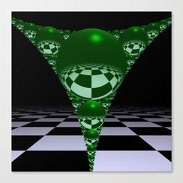 Apollonian gasket - green Canvas Print