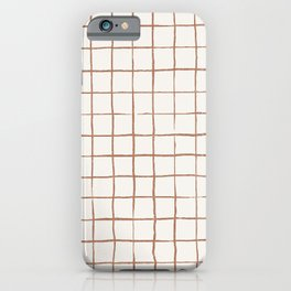 Imperfect Grid in Ivory and Clay iPhone Case