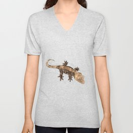 Crested Gecko Unisex V-Neck