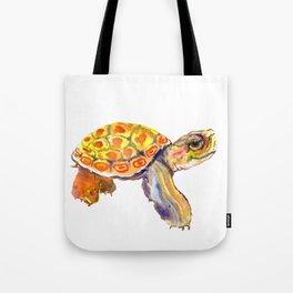 Orange Baby Turtle Tote Bag