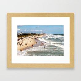 Tourist At Kure Beach Framed Art Print