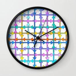 Colorful arrows Wall Clock