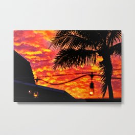 Sunset on the deck Metal Print