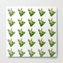 Golden Cactus i Tile Metal Print