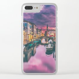 Canal and the Boats Clear iPhone Case