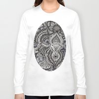 zentangle Long Sleeve T-shirts featuring zentangle by paucarbajal