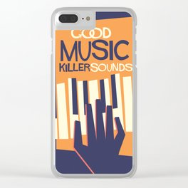 For the Love of Music Clear iPhone Case