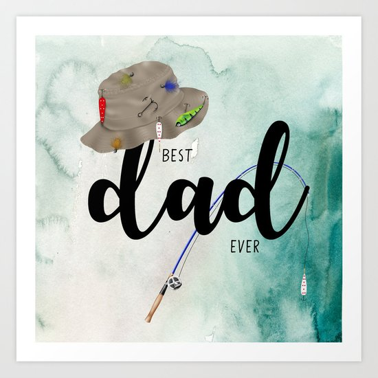Best dad #6 ever | Father's day Art Print