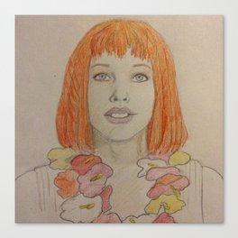 Leeloo Dallas Multi-Pass Canvas Print