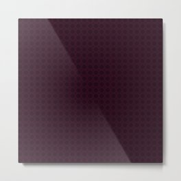 Dark Merlot Wine Circle Pattern Metal Print