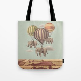 Flight of the Elephants - mint option Tote Bag