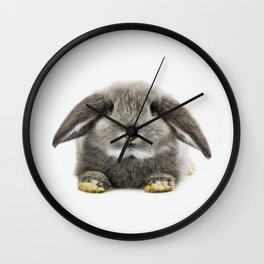 Bunny rabbit sitting Wall Clock