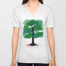 Man & Nature - The Tree of Life Unisex V-Neck
