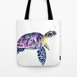 Sea Turtle, purple baby turtle illustration design Tote Bag