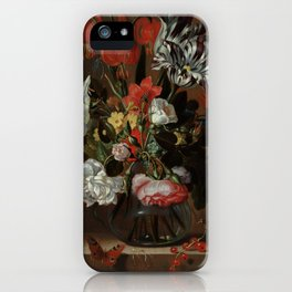 """Jacob Marrel """"Flowers in a glass vase"""" iPhone Case"""