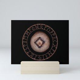 Ingwaz Elder Futhark Rune Male fertility, gestation, internal growth. Common virtues, common sense Mini Art Print