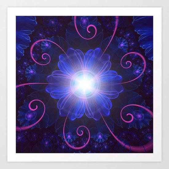 Beautiful Ultra Violet Fractal Nightshade Flower by jaya_prime