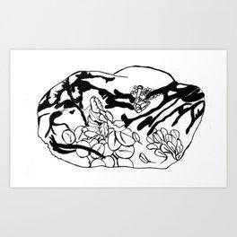 Raisin Mindfulness Art Print