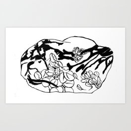 Raisin Mindfulness Art Print