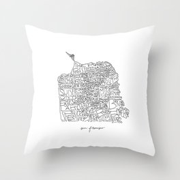 Good Ole San Francisco Throw Pillow