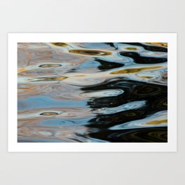 Abstract Water Surface Art Print