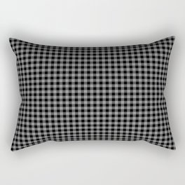 Mini Black and Grey Cowboy Buffalo Check Rectangular Pillow