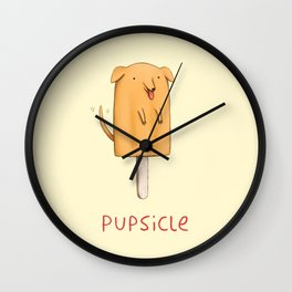 Pupsicle Wall Clock