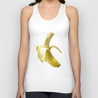 banana Tank Tops featuring Banana by Liam Brazier