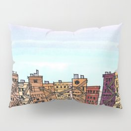 New York Purple Sky Pillow Sham