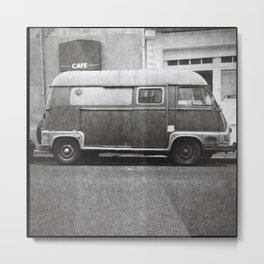 Old truck in the street Metal Print