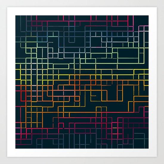 technicolour 4 Art Print