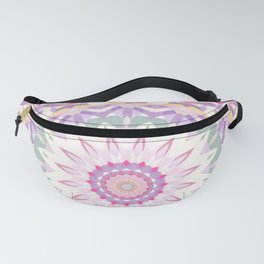 Calypso Mandala in Pastel Pink, Purple, Green, and White Fanny Pack