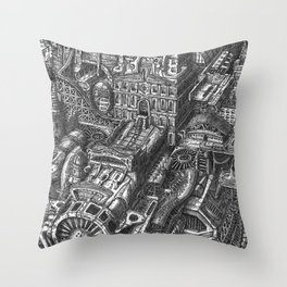 The Wandering City Ship Throw Pillow