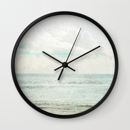 Silvery Seas Wall Clock