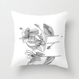 Femflowers Throw Pillow