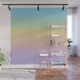 Pastel Rainbow Ombre Gradient Wall Mural