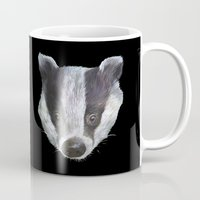 badger Mugs featuring Badger! by Alison Jacobs