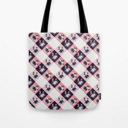 Vichy pink floral pattern Tote Bag