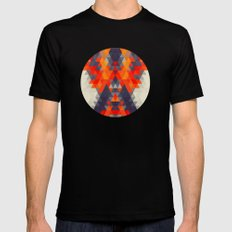 Abstract Triangle Mountain Black Mens Fitted Tee MEDIUM