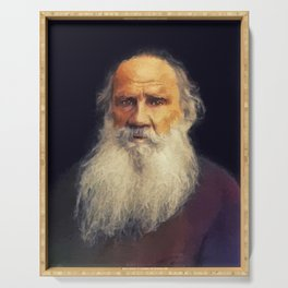 Leo Tolstoy, Literary Legend Serving Tray