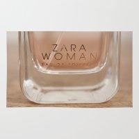perfume Area & Throw Rugs featuring Zara Perfume by Stephanie Nakagawa
